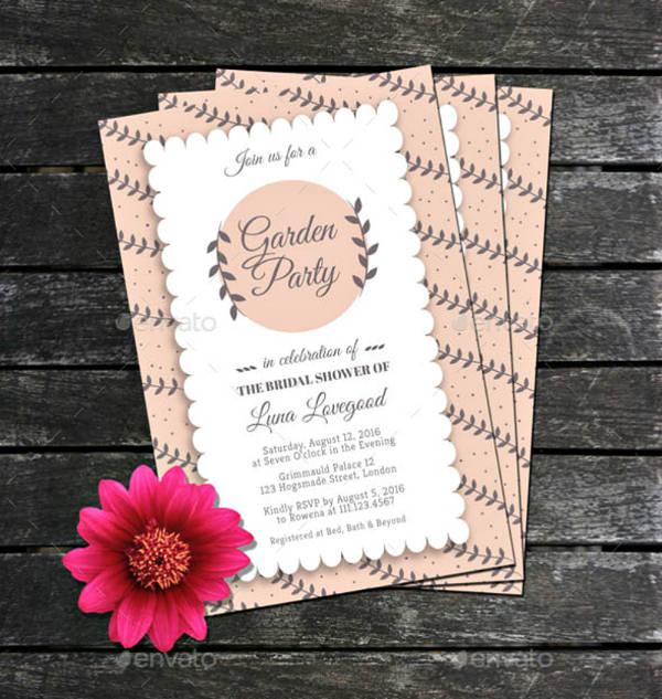 Garden Bridal Shower Invitation Template