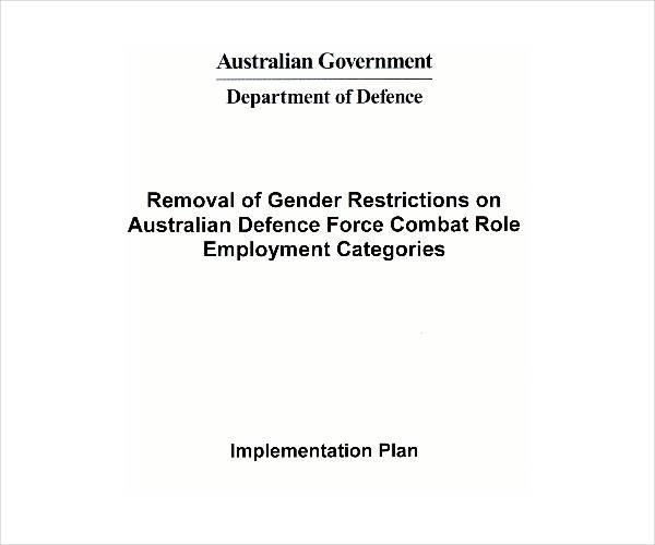 gender restriction implementation plan