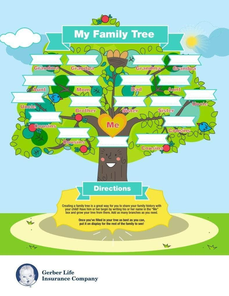 Gerber Life Family Tree Template
