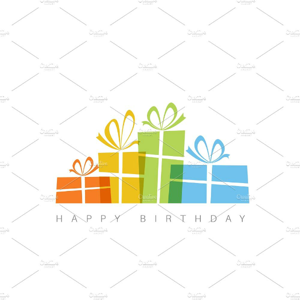gift boxes personalized birthday card template