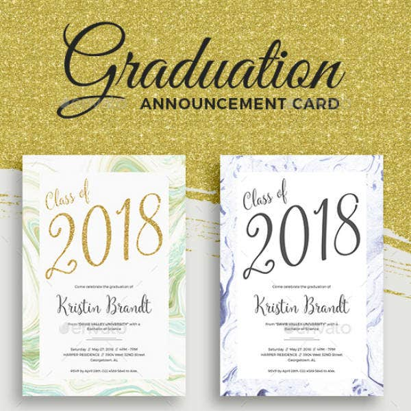 Glitter Graduation Invitation Template