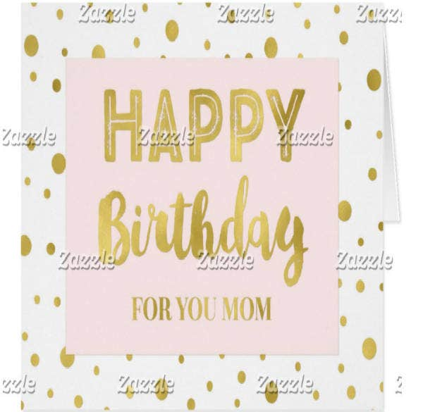 Gold Confetti Birthday Card for Mom