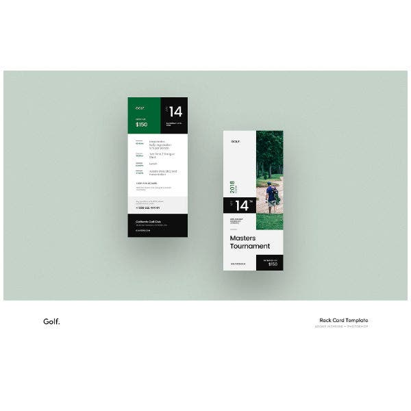 Golf Tournament Rack Card Template