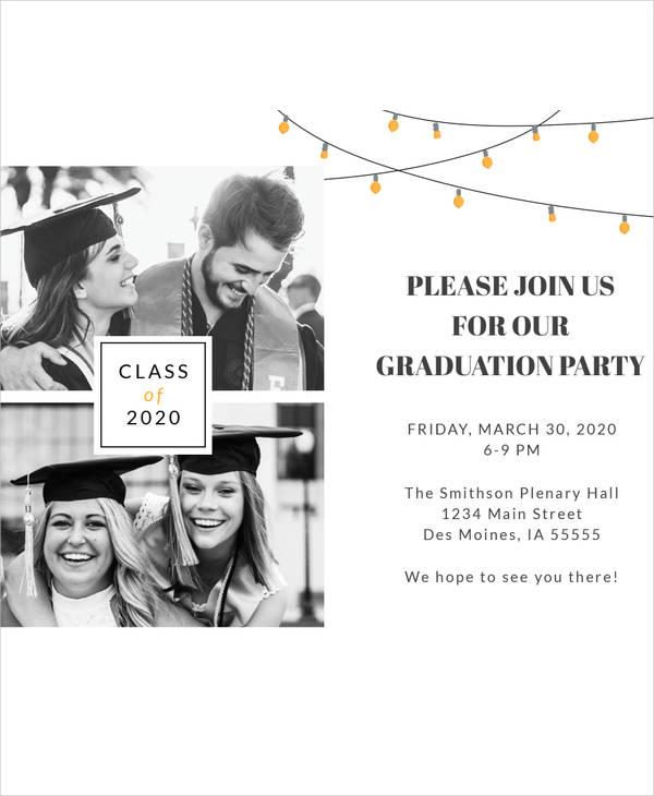 graduation celebration invitation template