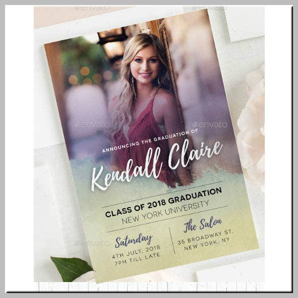 Graduation Ceremony Invitation Example