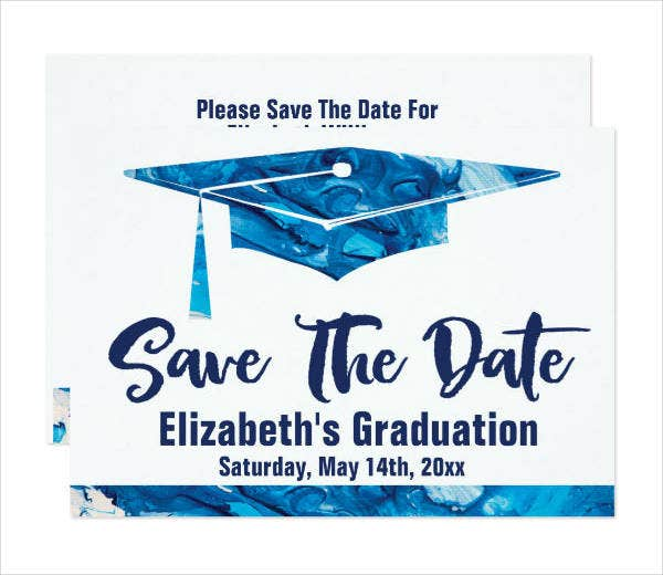 graduation save the date party invitation template