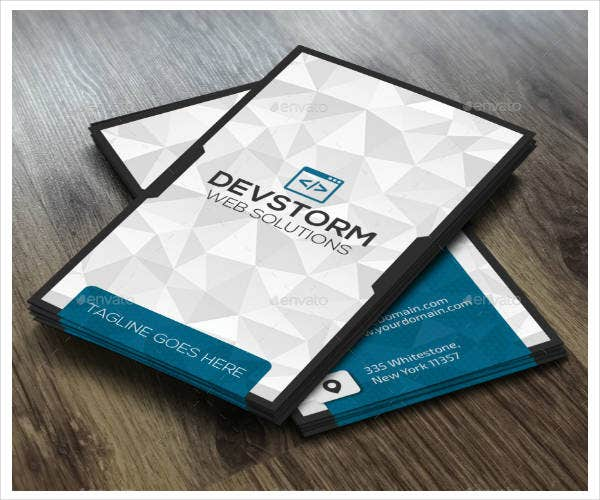 graphic design corporate business card