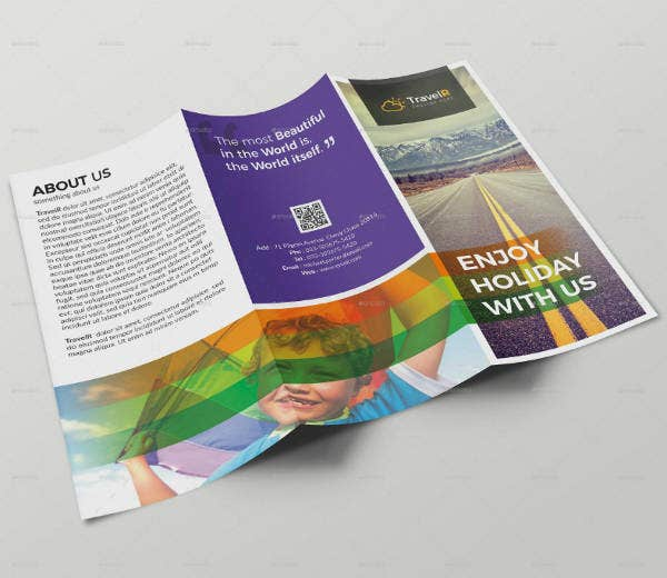 Graphics Travel Trifold Brochure Template