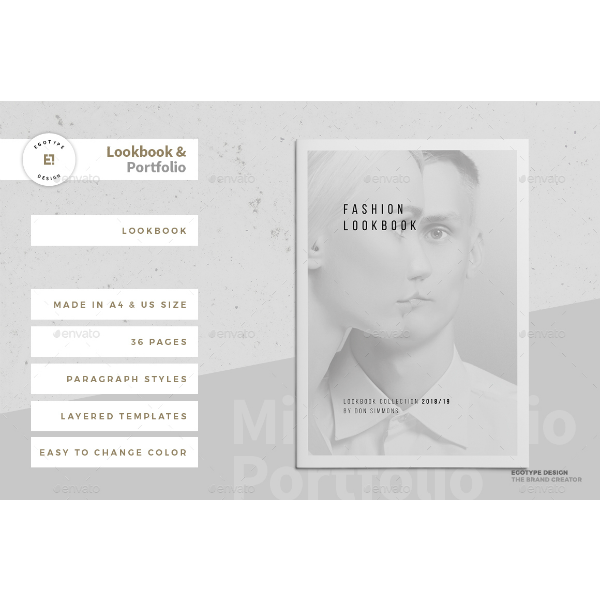 Grayscale Lookbook Portfolio Template