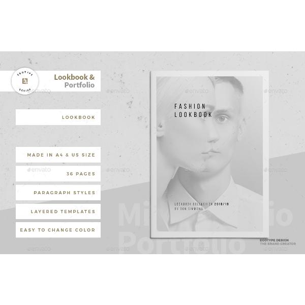 grayscale lookbook portfolio template