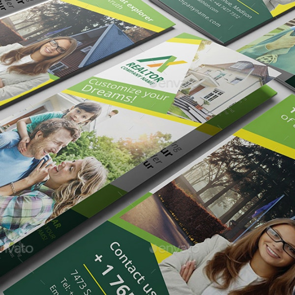 green-realtor-tri-fold-brochure-template