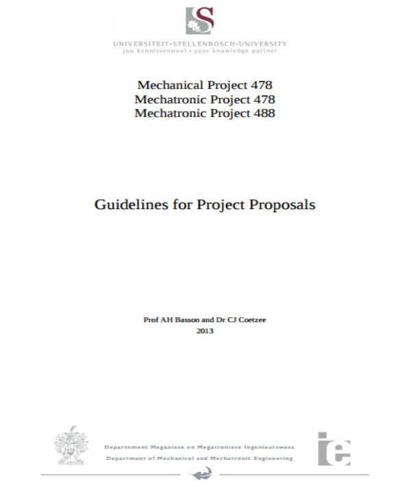 Guidelines For Project Proposals
