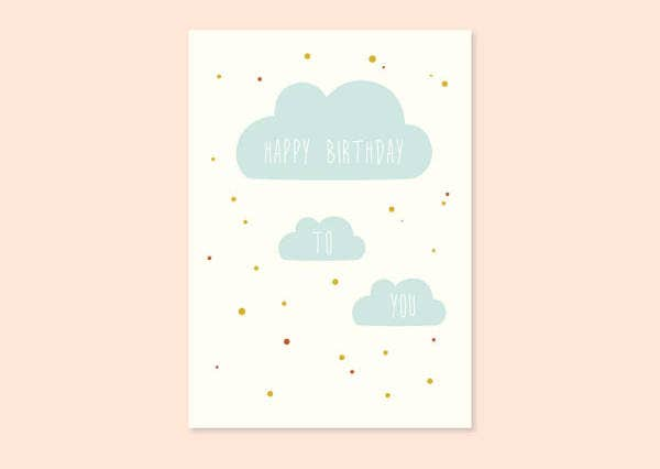 Happy Birthday Card Template for Kids