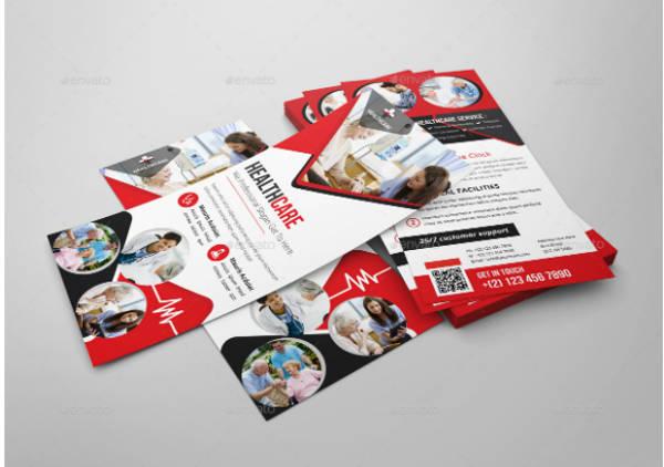 Healthcare Rack Card Flyer Design