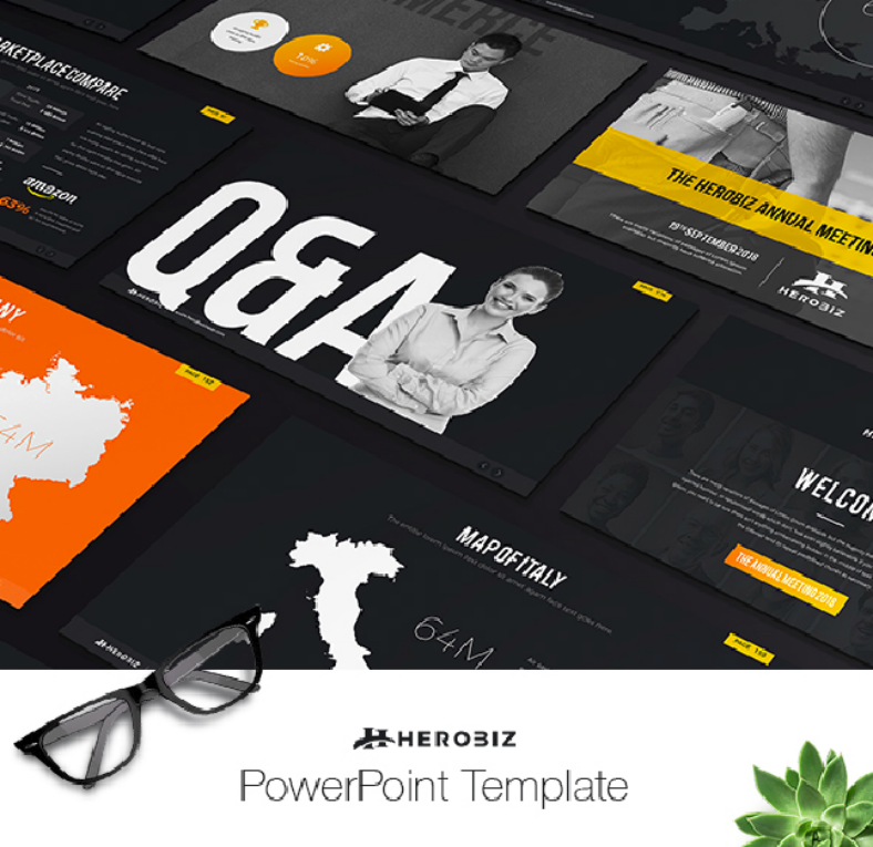 herobiz business plan powerpoint template 788x765