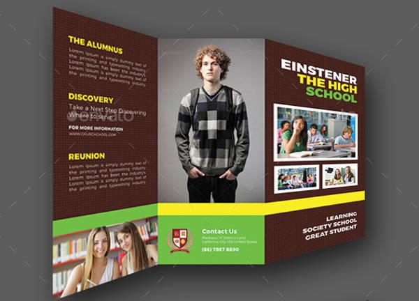 high school brochure template