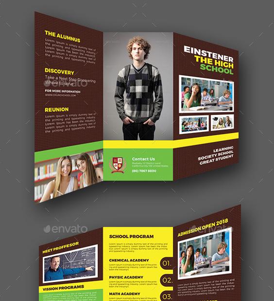 8 high school brochure templates psd ai free for High school brochure template