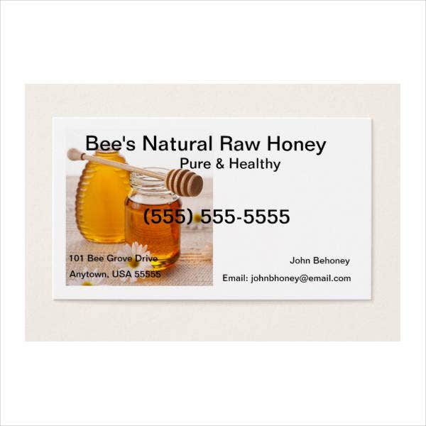 honey business card template