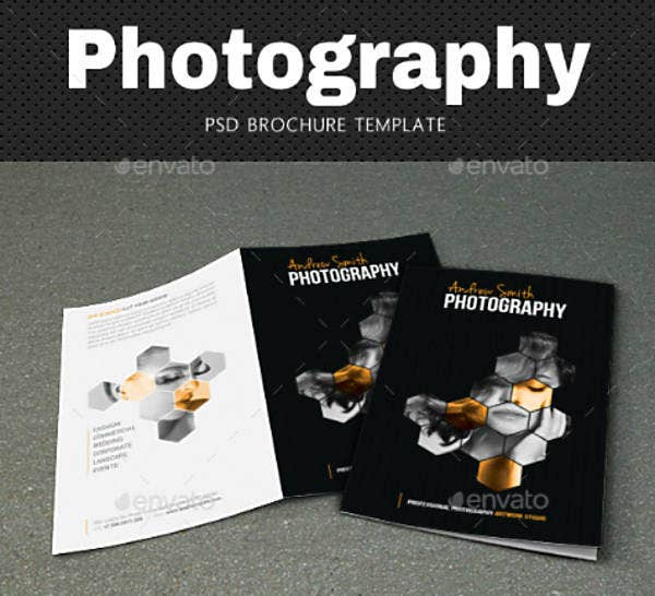 honeycomb pattern photography brochure template