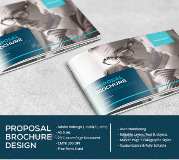Horizontal Proposal Brochure Template