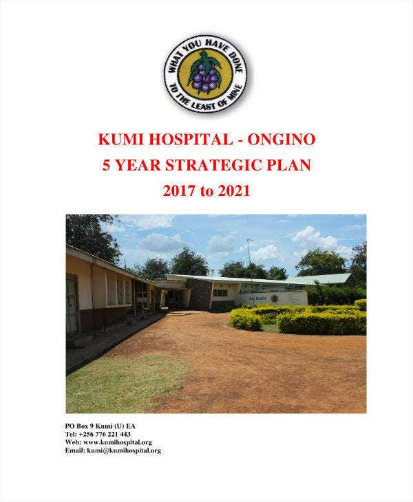 Hospital Master Strategic Plan Sample