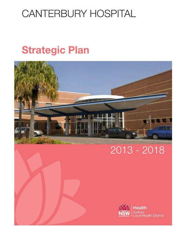 Hospital Strategic Plan Example