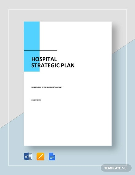 hospital strategic plan template