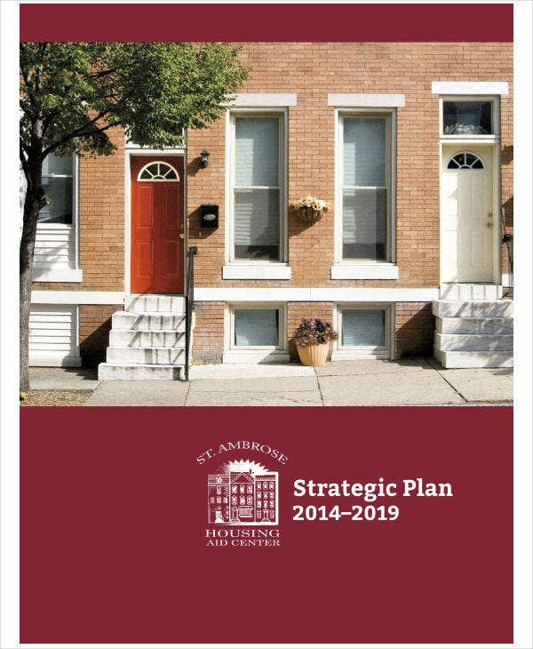 housing center strategic plan sample