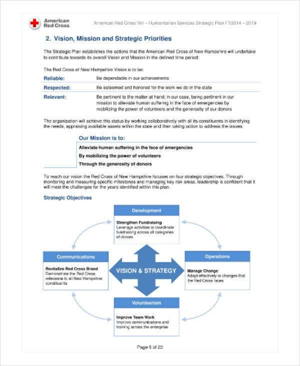 Humanitarian Services Strategic Plan Sample