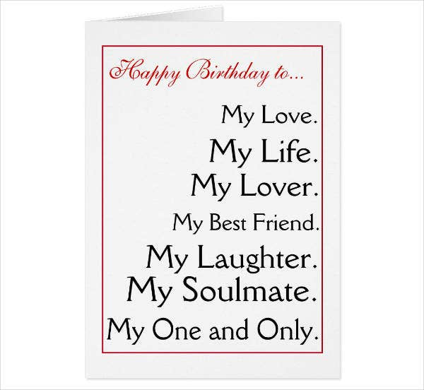 husband happy birthday card example