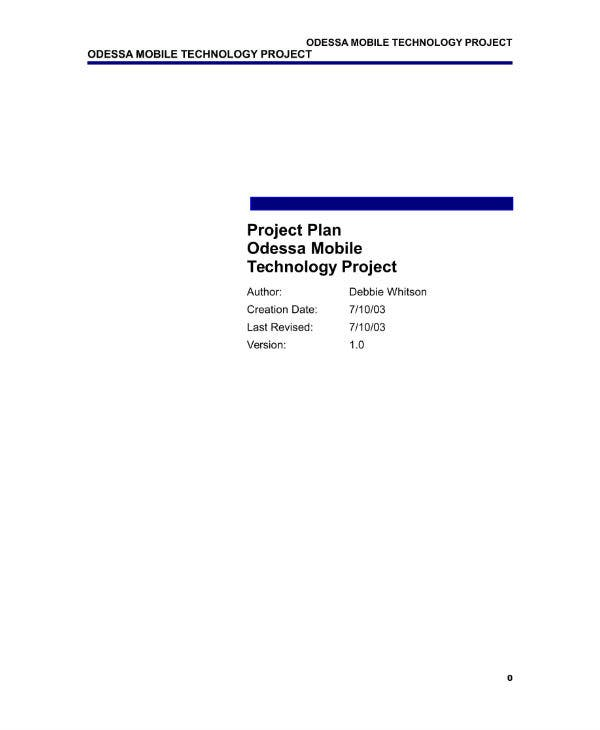 11 information technology project plan templates pdf doc free