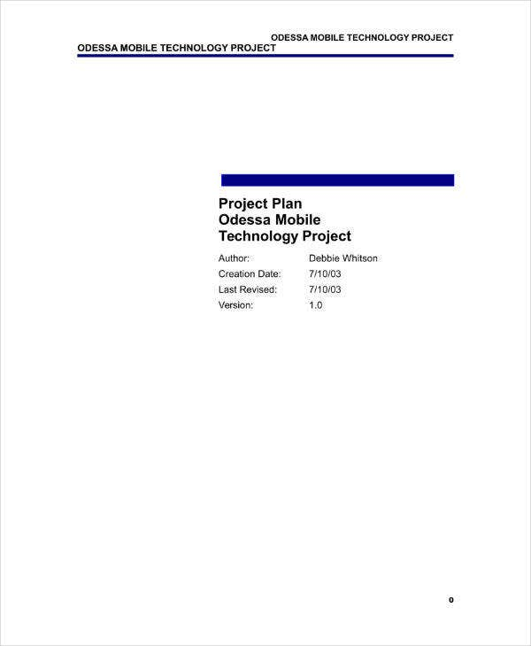 IT Sample Project Plan