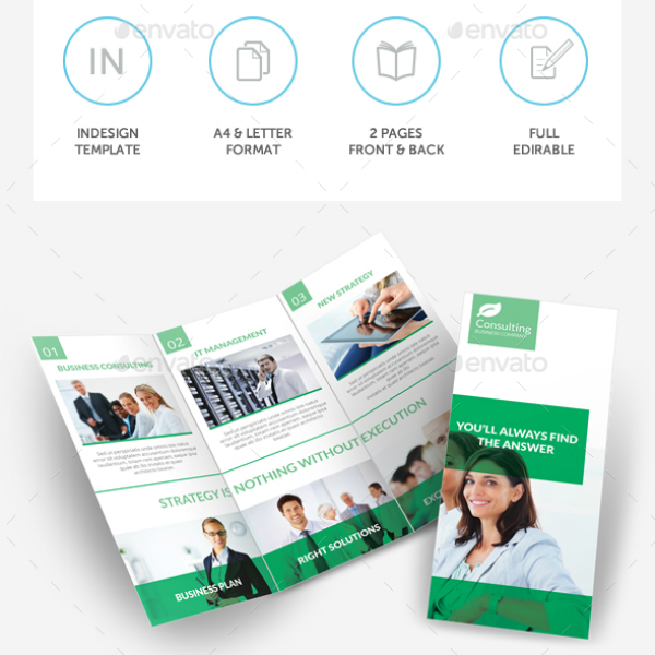 InDesign Consulting Services Brochure Trifold Template