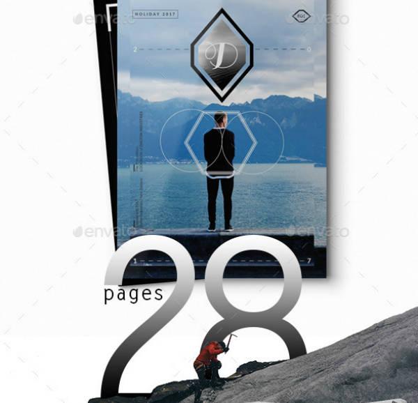 indesign lookbook layout template