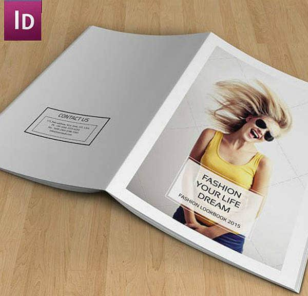 indesign photography lookbook template