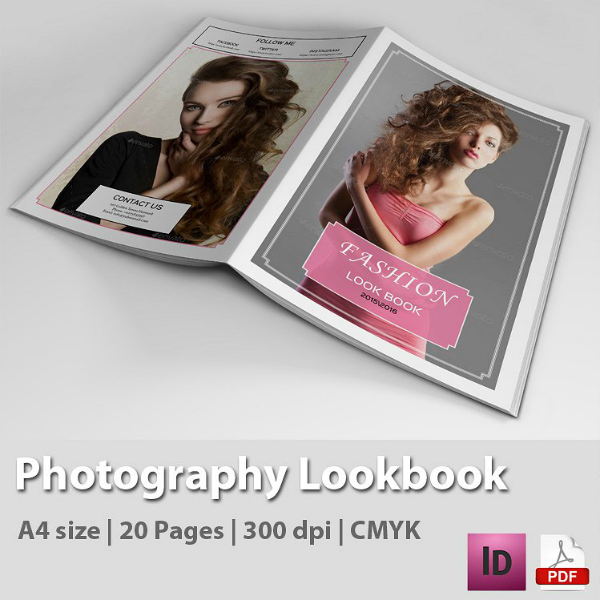 InDesign Photoshop Lookbook Magazine Template