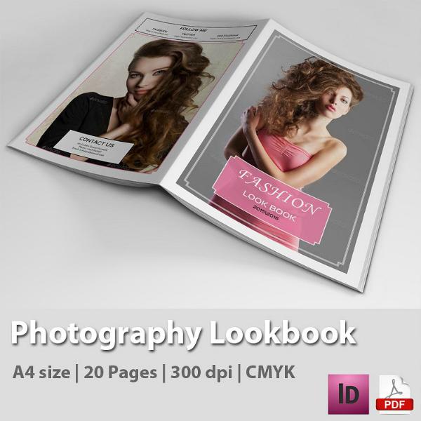 indesign photoshop lookbook magazine template