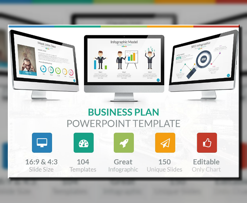 infographic business plan powerpoint template 788x650