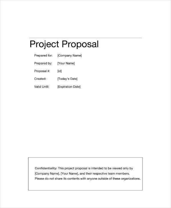 Information Technology Project Proposal Template
