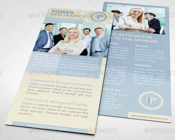 Insurance Business Rack Card Template
