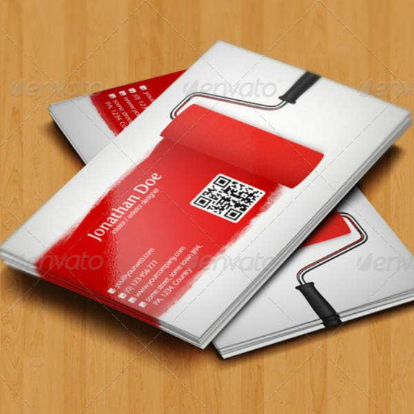Interior Design Business Card Example