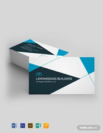 interior design business card template