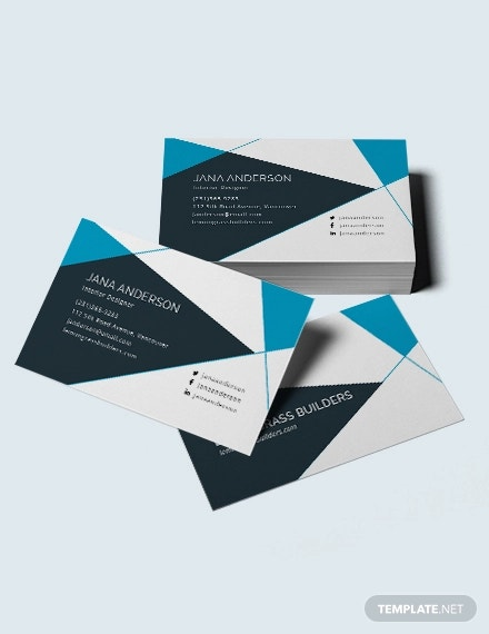 21+ Interior Design Business Card Templates