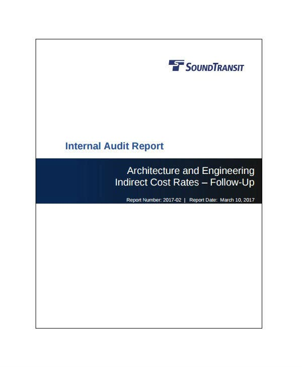 internal engineering audit report template