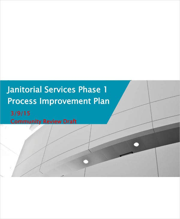 Janitorial Service Improvement Plan