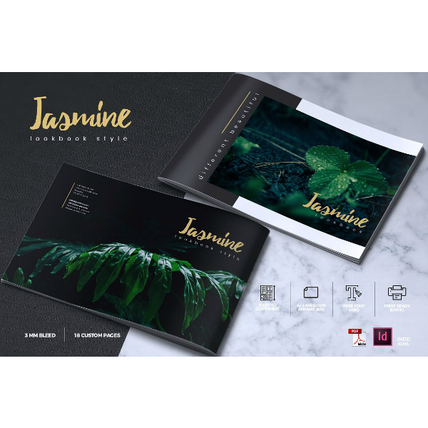 Jasmine Lookbook Brochure Template