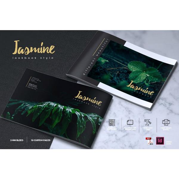 jasmine lookbook brochure template