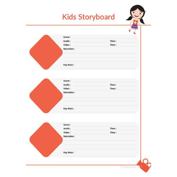 kids storyboard sample