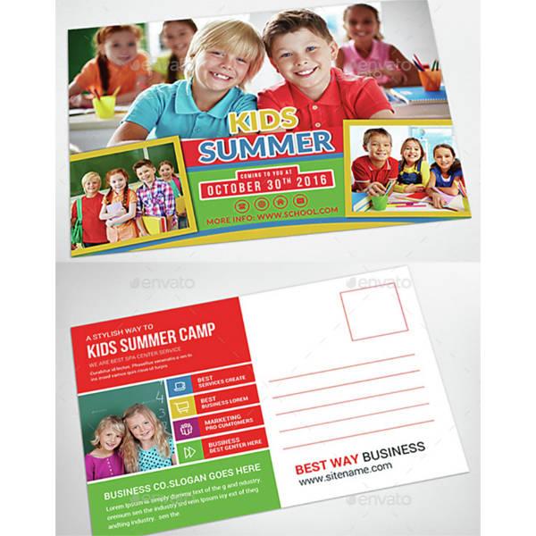 kids-summer-camp-postcard-template