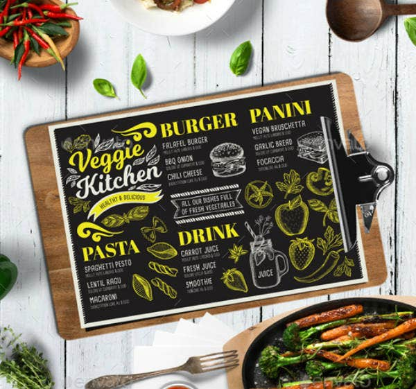 Kitchen Printable Menu Card Template